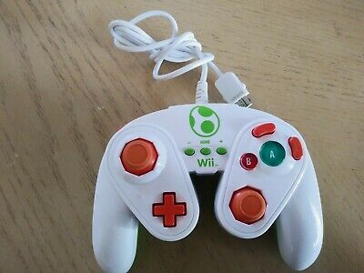 Yoshi Wired Fight Pad Gamecube Controller Smash Bros Nintendo Wii & Wii U by PDP