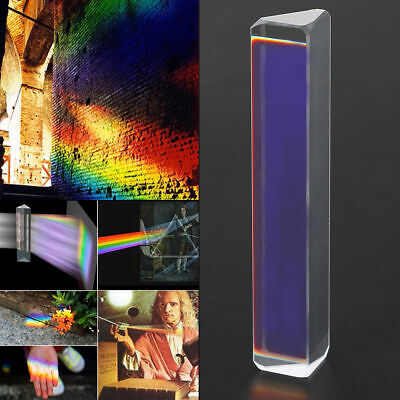 K9 Optical Glass Equilateral Triple Triangular Prism for Optics Experiment