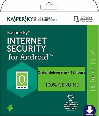 Kaspersky Internet Security for Android 2019. 1 device /1 year