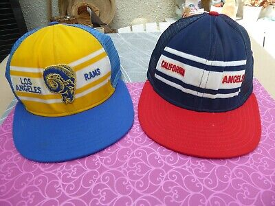 Baseball  Casquettes Made In Usa   - Los Angeles  Rams - California Angels 1981