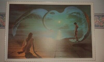 Large Vintage Retro 1972 Wings Of Love Print By Stephen Pearson