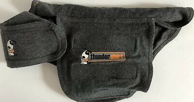 ThunderShirt Classic Dog Anxiety Jacket - Heather Gray Size Small 8 - 14 Lbs