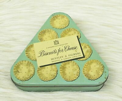 Vintage Biscuits For Cheese Triangle Shaped Tin Huntley & Palmers England Rare