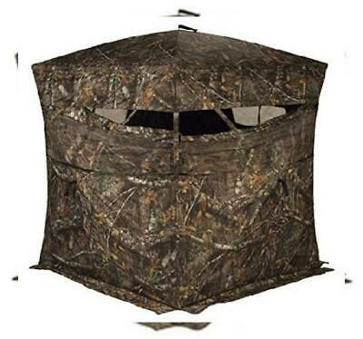 Rhino Blinds R150-MOC 3 Person Hunting Ground Blind Realtree Edge