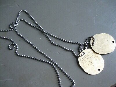 M1943 stainless steel World war 2 Navy and marine dog tag reproductions