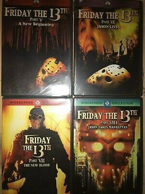 Friday The 13th 4 DVD Set  (Parts 5,6,7,8)