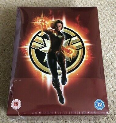 Captain Marvel - 4K & 2D Blu Ray Collector's Edition Steelbook - New & Sealed