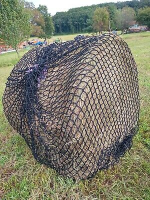 "Heavy Duty 1-3/4"" Mesh Hay Net for Round Bales by Hay Burners Equine LLC"