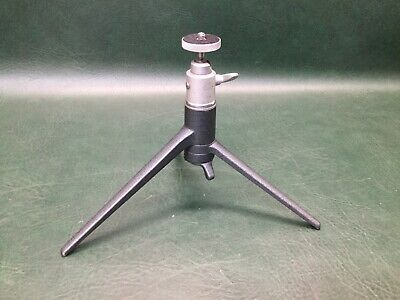 Vintage Ernst Leitz Wetzlar Folding Tabletop Metal Tripod w/ Ball Head ~ Germany