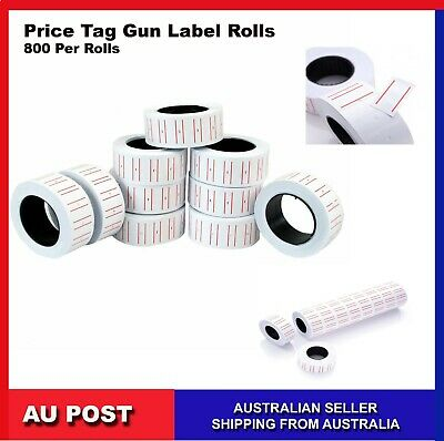 Price Tag Gun Labels Tags Rolls Sticker  MX5500 800 Per Roll PriceTagLabels