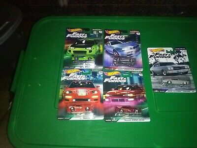 2019 hot wheels fast and furious premium lot