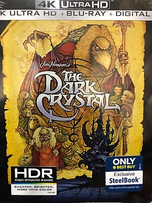 THE DARK CRYSTAL Steelbook 4K UHD HDR Blu-Ray Best Buy Limited Edition NEW