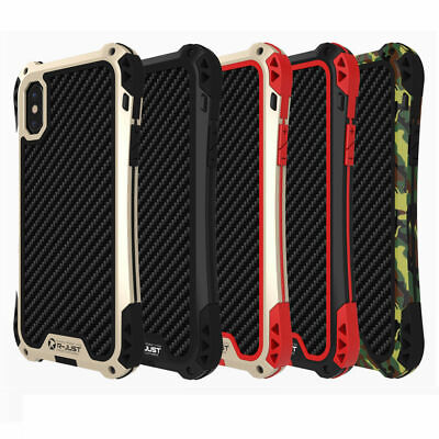 Fiber Carbon Heavy Duty Shockproof Case Back Cover For iphone Xs Max Xr 8 7 6s