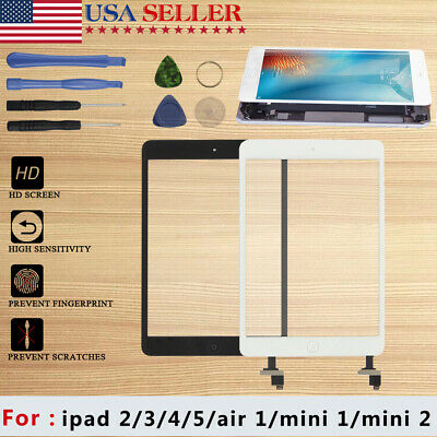 New Touch Screen Black Glass Digitizer Replacement for iPad 2 Tools Black TCUS