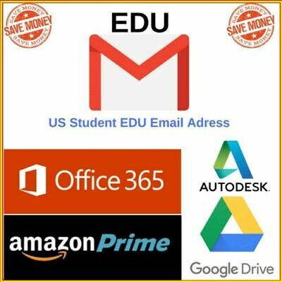 Edu Email  [ Amazon Prime 6 month Unlimited Google Drive Storage US Student Mail
