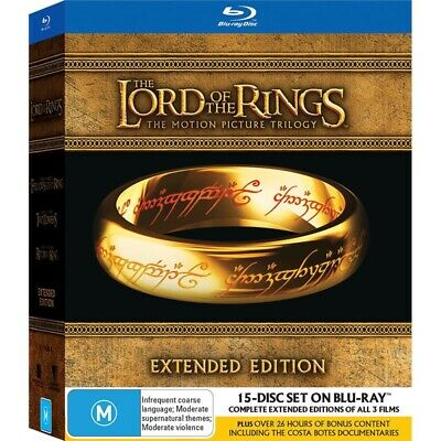 Lord of the Rings Trilogy Extended Edition Blu-ray 15-Disc Box Set BRAND NEW