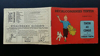 Tintin Kuifje Tim Décalcomanies version classique n°6 Congo complet TBE