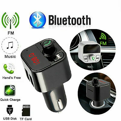 Bluetooth Wireless FM Transmitter Car Radio MP3 Music USB Charger Handsfree UK