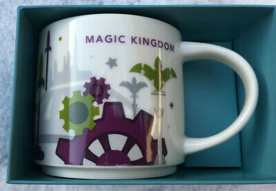 Starbucks - Disney MAGIC KINGDOM Coffee Mug - YAH - You Are Here - NEW