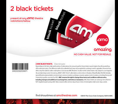 2 AMC black movie tickets - fast edelivery