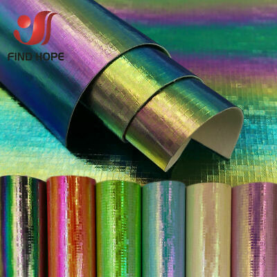 MOSAIC Laser Iridescent PU Leather Fabric For Sewing Bag Clothing Bag DIY Decor