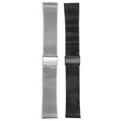 18mm-22mm Mesh Watch Band Stainless Steel Milanese Link Bracelet Wrist Strap