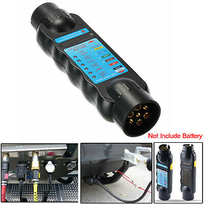 7 Pin Tow Bar Towing Trailer Caravan Light Wiring Circuit Tester Plug Socket 12V
