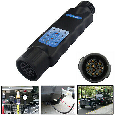 13 Pin Tow Bar Towing Trailer Caravan Light Wiring Circuit Tester Plug Socket