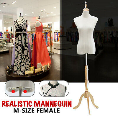 M-Size Female Mannequin Half Model Sandal wood Adjustable Bracket Window