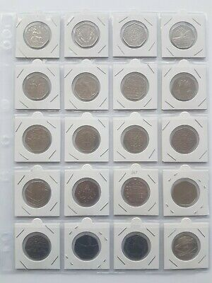50p Coins Full Set of 21 all the commemorative coins plus souvenir kew gardens 3