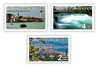 Turkey 2019, Permanent Postal Stamps With The Theme Of Tourism, Mnh