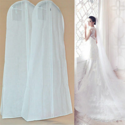 Extra Large Wedding Dress Bridal Gown Garment Breathable Cover Storage Bag White