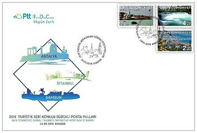 Turkey 2019, Permanent Postal Stamps With The Theme Of Tourism, Mnh, Fdc
