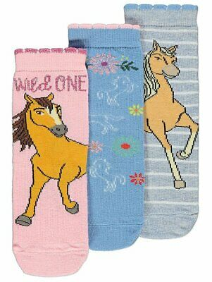 George Girls Kids Official Spirit Riding Free Socks 3 Pack