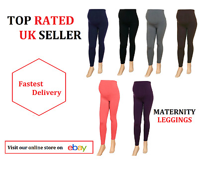 Thick Comfortable Maternity Cotton Leggings Full Ankle Length PREGNANCY ^ MTrLgs
