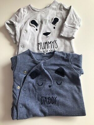 next baby boy up to 1 month Babygrow Sleepsuits 🐼🐻
