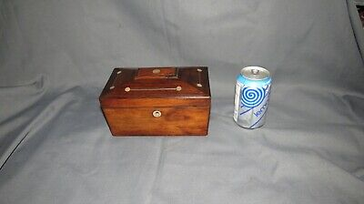 A FINE 19th CENTURY VICTORIAN INLAYED ROSEWOOD TEA CADDY