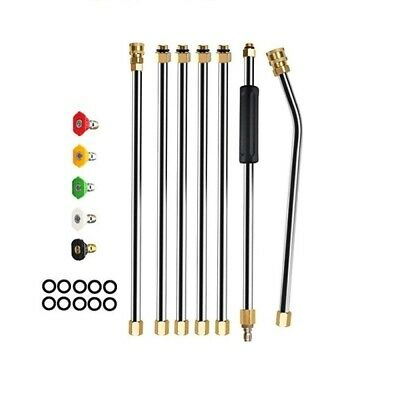 Pressure Washer Extension Wand Set, Replacable Power Washer Lance with 6 Spray