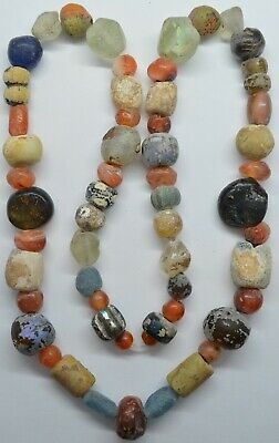 Beads Сornelian Glass Stone  / 600-100BC. Celtic / Bosporus / Scythian