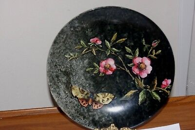 Antique 19Th C Minton Hand Painted Porcelain Plate Marked And Signed