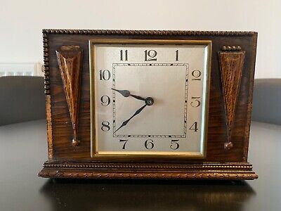 Small Wooden Mantel Clock- Antique