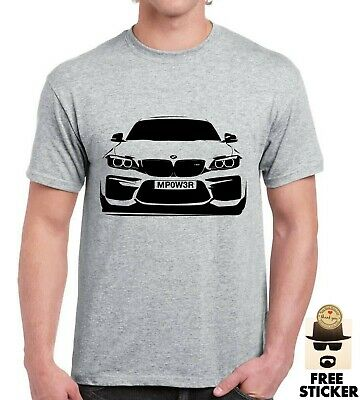 BMW M power CUSTOM Plate T shirt Personalised Car mpower Gifts Mens S - XXL Top