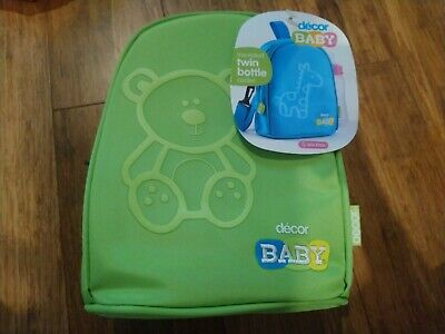 Bnwt Decor Baby Green Insulated Twin Bottle Cooler Bag