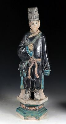 *SC*SUPERB CHINESE POTTERY FIGURE OF A MALE ATTENDANT, Ming Dynasty!