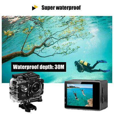 4K HD Sports Impermeabile Fotocamera Azione Videocamera 1080P Video DVR Wi-Fi