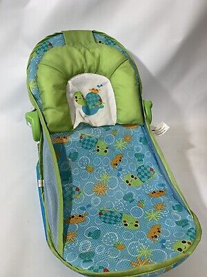 Baby Bather Bath Seat Turtle Foldable Support Chair Fun Play