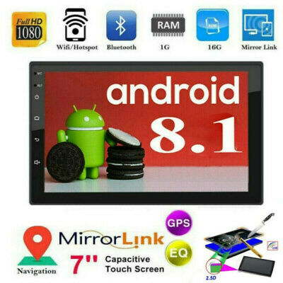 "Android 8.1 7"" 2Din Quad Core Car Stereo Radio GPS Navigation MP5 Player FM WiFi"