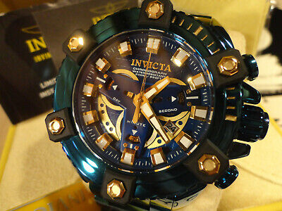 Invicta Reserve Blue Label 63mm Grand Octane Coalition Force Bracelet Watch NEW!