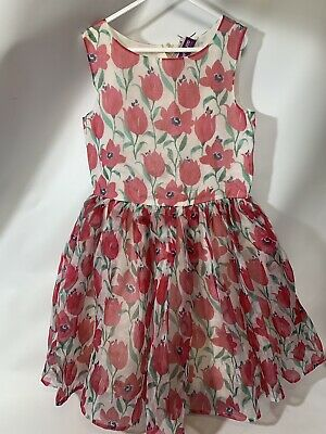 BNWT Girls Flower Dress Age 10 Years From Next