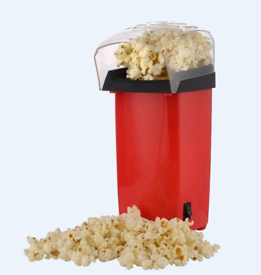 Hot Air Popcorn Popper Electric Machine Maker 16 Cups of popcorn Red